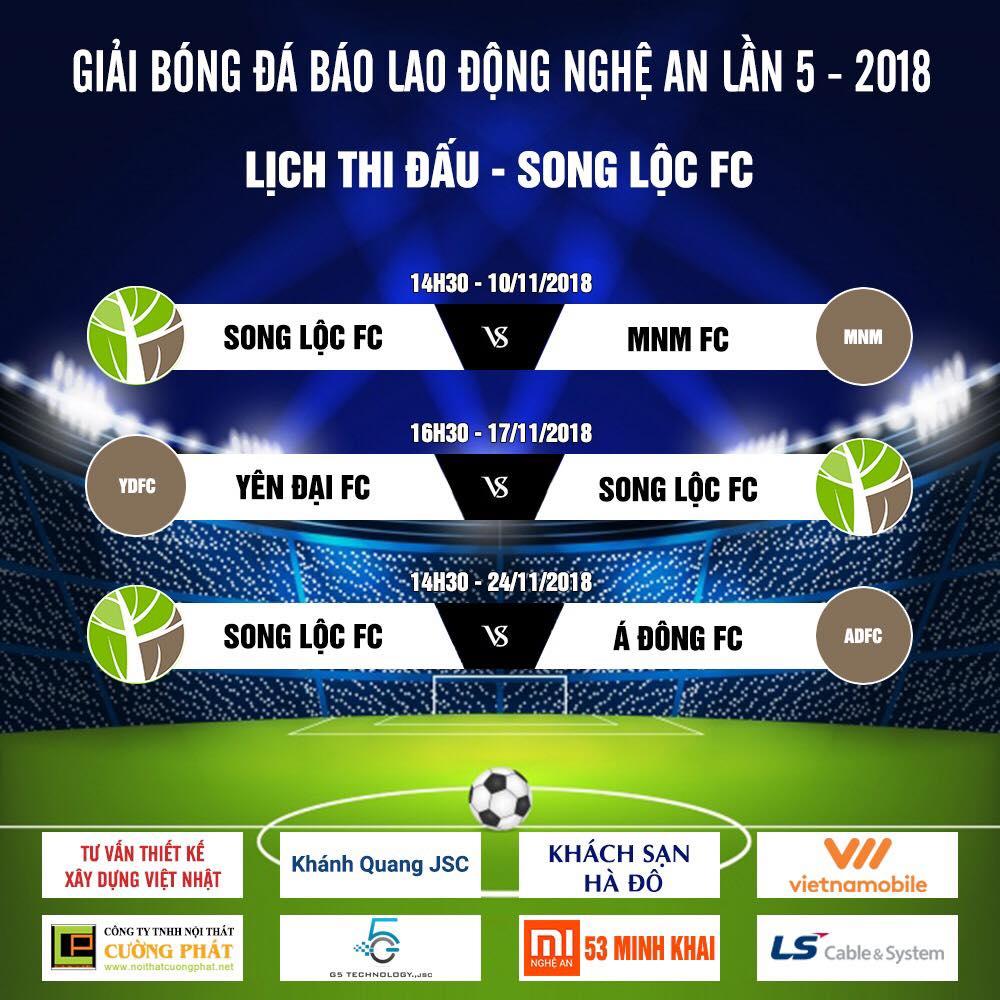 Lịch thi đấu Song Lộc FC